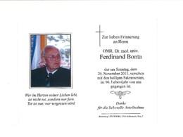 Ehrenmitglied OMR Dr. Ferdinand Bonta verstorben