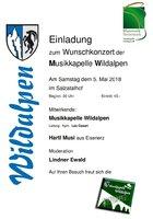 Einladung zum Wunschkonzert 2018
