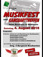 Einladung - Musikfest / Gamsbartreffen 2018